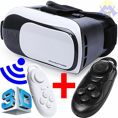 VR Occhiali 3D Realta' Virtuale VISORE + GAMEPAD Telecomando CELLULARE Video USB