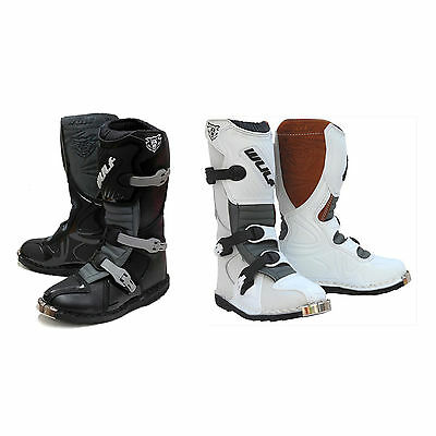 Wulfsport Cub LA Motocross Enduro Off-Road Kids MX Leather Armour Boots Junior