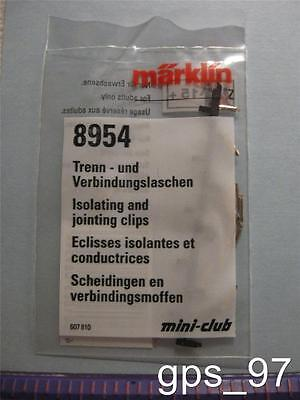 Z - Marklin 8954 Isolating(10) & Joint Clips(20) Set - Manufacturer Brand New
