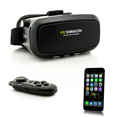 Controller + 3D VR Brille Virtual Reality für iPhone 7 Plus 6 S 5 4 Videobrille