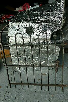 "Antique Black Wrought Iron Gate - ""Stewarts Iron Works Co."" CINCINNATI OHIO"