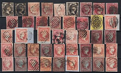 Spanien 1851-1855 - Spain cllassic lot - España - Condition how scan - Used