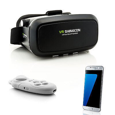 Controller + 3D VR Brille Virtual Reality für Samsung Galaxy S5 S6 S7 Edge S8