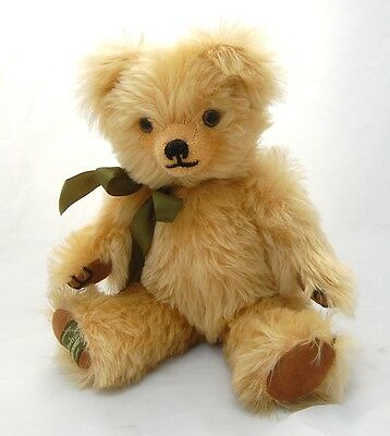 "Harrods Merrythought Teddy Bear Growler LTD 645/1000 Very Soft Mohair 14"" Signed"