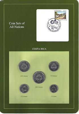 Coin Sets of All Nations, Costa Rica, 5 Coin Set