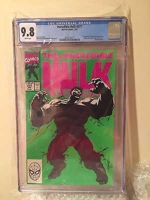 Incredible Hulk #377 - CGC 9.8 NM/MT - Keown - Green and Grey Hulk! White Pages