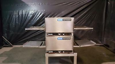 """Lincoln 1301 Double Stack 50"""" Pizza Conveyor Ovens"""