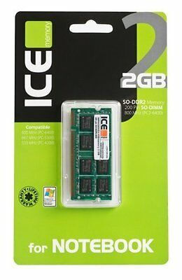 ICEmemory - Memoria per Notebook SO-DDR 2 800/667/533 MHz da 2 GB - Retail