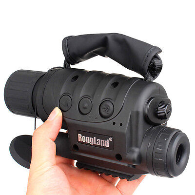 Rongland 4GB Night Vision Goggles Monocular Security Camera IR Tracker Trail DVR