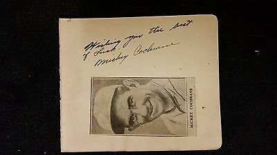 Authentic Mickey Cochrane Autograph, General Inscription and News Clipping Photo