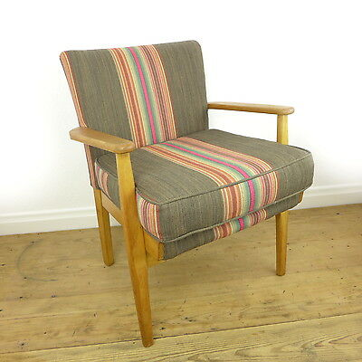 Vintage PARKER KNOLL 733 Arm Chair NEW UPHOLSTERY Fireside Retro 60s/70s