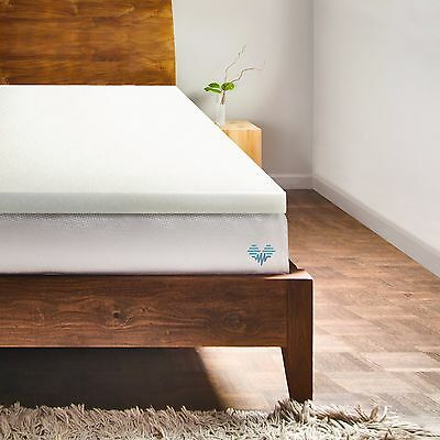 PharMeDoc Memory Foam Mattress Topper – 2 Inch Thick Soft Bed Protector Pad