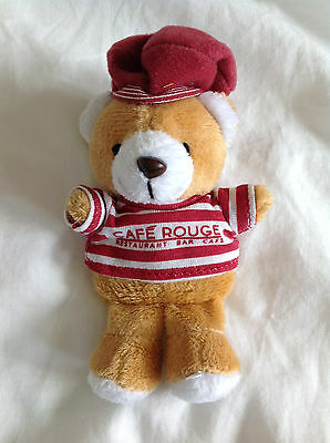 Cafe Rouge Soft Cuddly Plush Small Teddy Bear