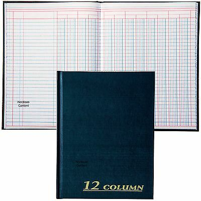 Adams Tops ARB8012M Account Columnar Book, 80 Pages, 12 Column, 7 x 9-1/4""