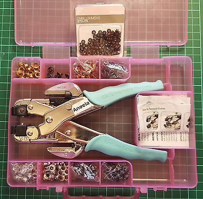 Crop-A-Dile and Carry Case contains many New Eyelets of various sizes