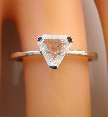 0.54 ct solitaire real diamond wedding engagement ring 18k white gold ring