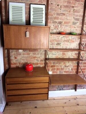 Royal Danish Cado Modular Wall storage System (2 section) Midcentury