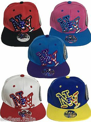 Cappello New York Cappellino NY Uomo Donna Berretto Regolabile Hip Hop Baseball