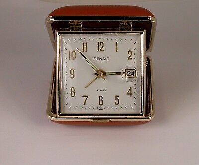 Rensie Travel Alarm Clock Made in Japan- Date is Magnifed on Clock Face