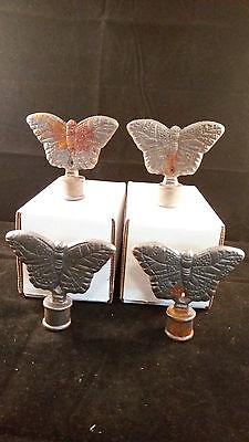 Cast Iron BUTTERFLY Finial Garden Statue Home Decor Rustic Ranch VINTAGE (E52)
