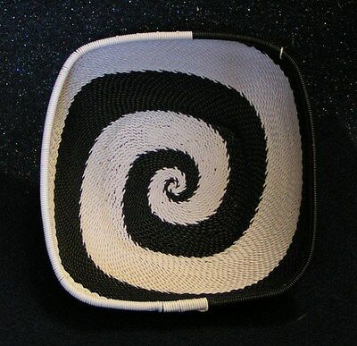 Kithi Hand-Woven Basket In Black And White
