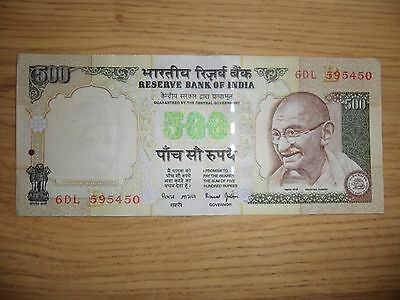 500 Rupee GANDHI bank note. Great Condition. Lots available.