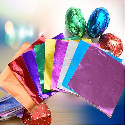 Hot Sale 100pcs Square Candy Paper Sweets Chocolate Foil Wrappers Confectionary