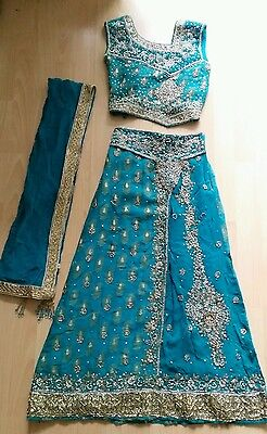 Girls childs Indian 3 pc suit Bollywood Party Dress Asian Wedding Sangeet Mehndi