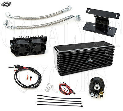 Black Ultra Cool Oil Cooling System The Reefer Oil Cooler Harley Touring 99-08