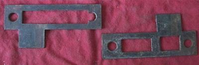 Lot of 2 Antique/Vintage LOCK STRIKE PLATES          #82