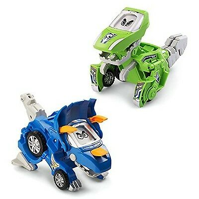 VTech Switch & Go Dinos - Animated Dinos 2-pack with Sliver and Horns New