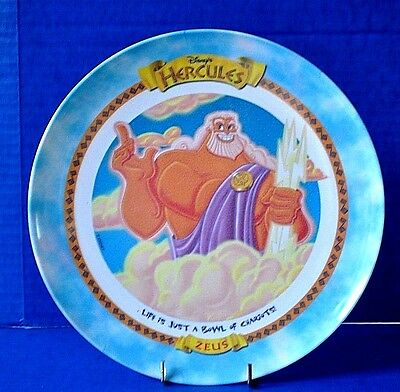 Disney ZEUS Hercules Plate Mcdonald's 1997 Limited Edition  Never Used