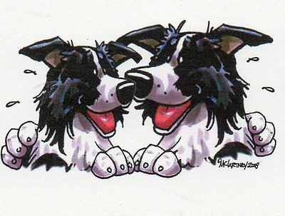 Border Collie Buddies Sign by Mike McCartney