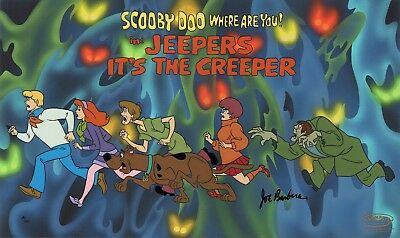 Scooby-Doo Jeepers Its the Creeper Warner Brothers LE 100 Hand-Painted Cel WB