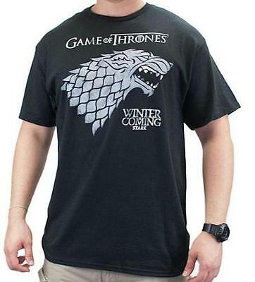 Game Of Thrones Stark Direwolf Sigil Winter Is Coming T-Shirt NWT Tee Licensed