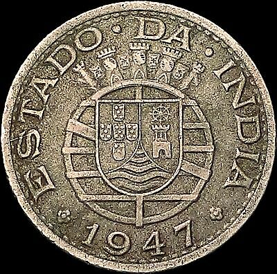 1947 India-Portuguese ½ Rupia Coin – Two Year Type