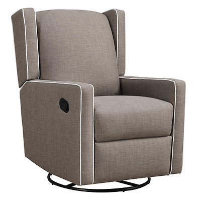 Mom Bebe Everston Swivel Glider Recliner - Taupe - Baby rocking chair