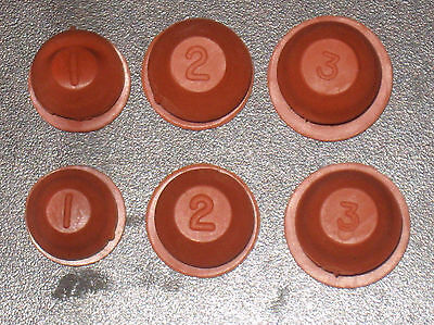 New Pair Of Brown Salt And Pepper Shaker Stoppers Rubber Plugs Piggy Bank