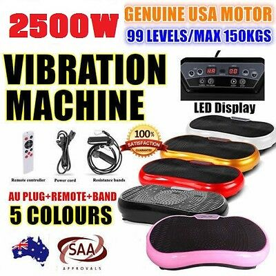 2500W Slim Vibration Machine Trainer Plate Platform Body Shaper Exercise Fitness