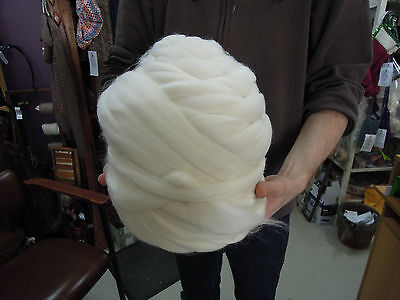 Natural White Merino Wool Top Roving 1kg. Spin, Dye, Felt or knit. Felting