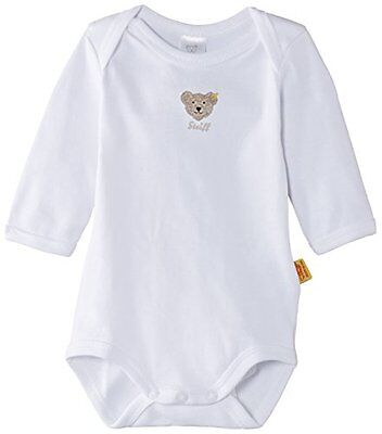 Steiff - 0008502 Bodysuit 1/1 Sleeves, Body per bimbi, bianco(bright white), tag