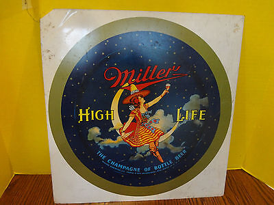 RARE MILLER HIGH LIFE METAL UNCUT BEER SERVING TRAY ADVERTISING DONALDSON Co.