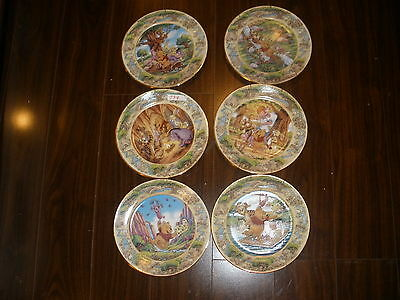 DISNEY Complete Set of 6 Bradford Exchange WINNIE THE POOH Collectible Plates