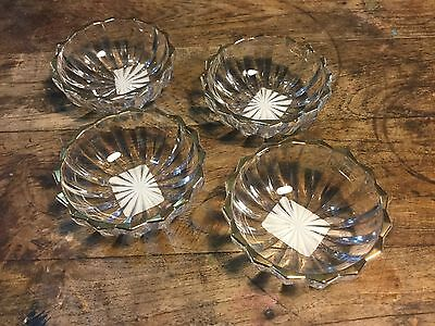 Mikasa Crystal Condiment Bowls - Set of Four - New