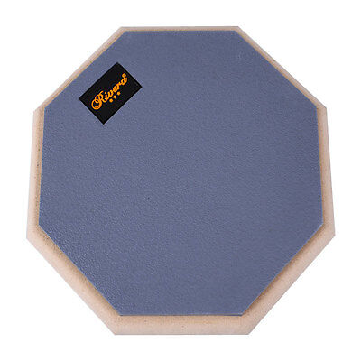 8 Inch Dumb Drum Pad Silent Exercise Practice Plate for Beginner Rubber Wooden