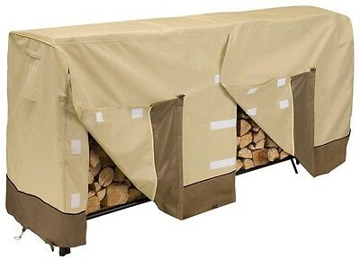 Classic Accessories Veranda 8 ft Firewood Rack Cover Easy Fitting And Removal