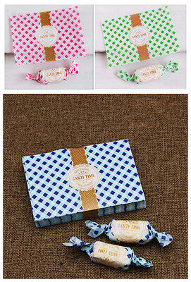 100pcs grid wax paper handmade Candy Chocolate packaging soap Wrapping paper