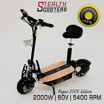 Rogue 60v 2000w 20AH Lithium Electric scooter - Higher Torque than 1000w