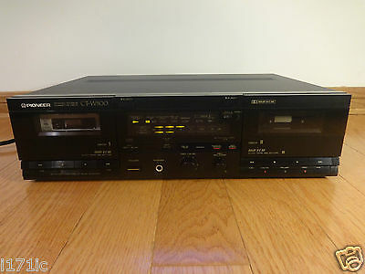 Pioneer CT-W500 Dual Cassette Deck Recorder 1989 Japan TESTED 100% Works Great!