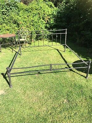 Desirable Large Vintage Cast Iron Bed 1.8m Wide